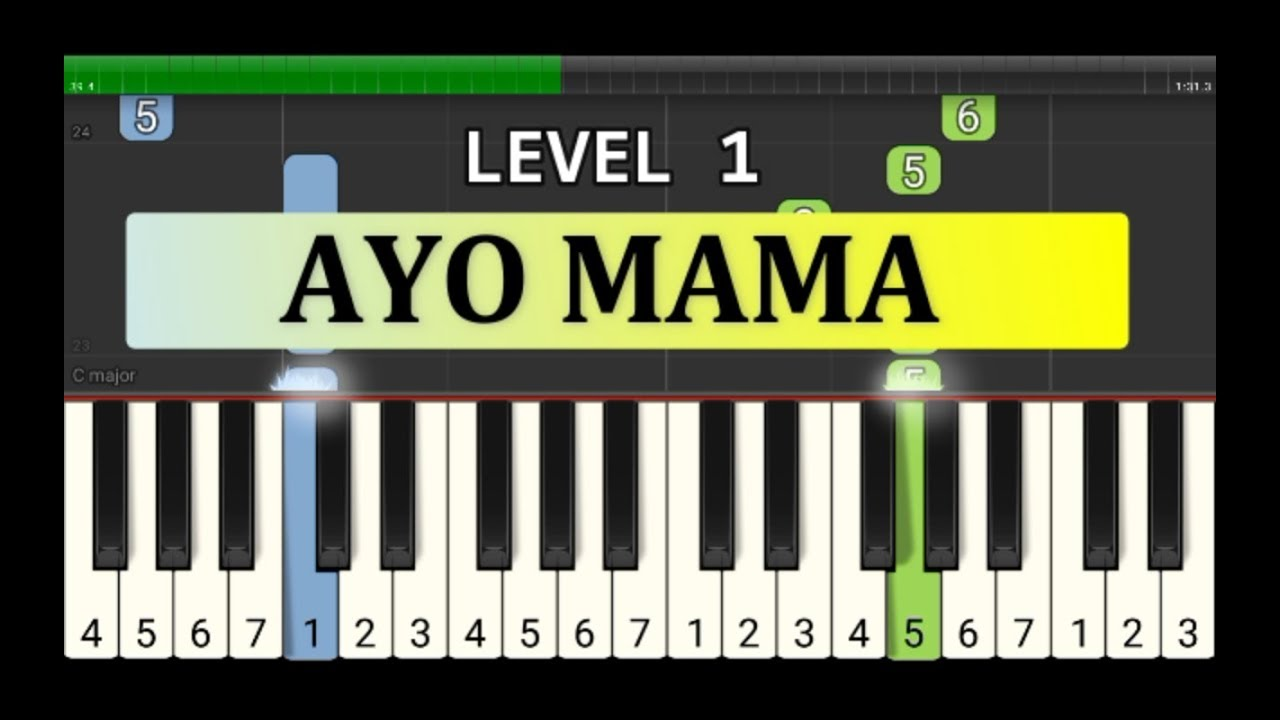 Not Piano Ayo Mama Tutorial Level 1 Lagu Daerah Nusantara Tradisional Maluku Ambon Youtube