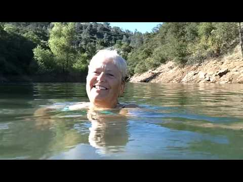 Steven Jenkins mother nearing 80 years old swimming in California lake