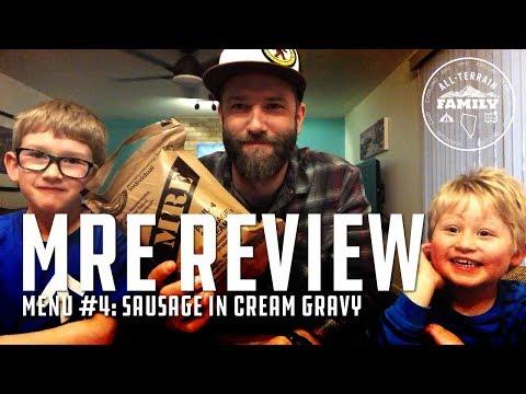 MRE Review Menu 4: Pork Sausage in Cream Gravy