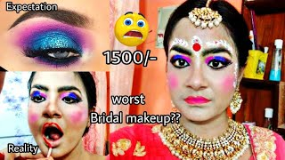 "I WENT TO THE WORST REVIEWED ""BRIDAL"" MAKEUP ARTIST IN INDIA KOLKATA 