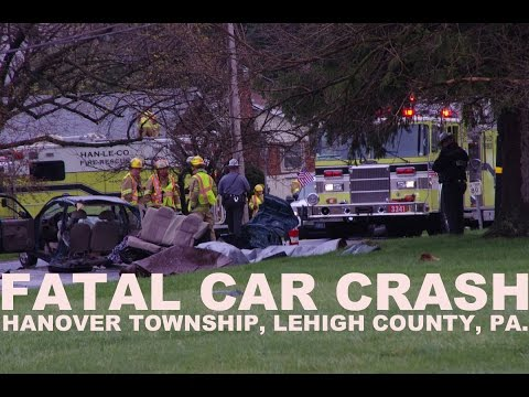 Fatal Car Crash - 1 child killed in ejection; Hanover Twp., PA. | 04/09/16
