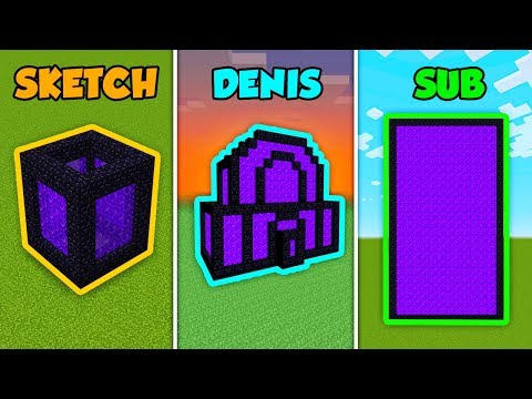 SKETCH Vs DENIS Vs SUB - NETHER PORTAL In Minecraft (The Pals)