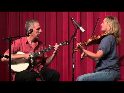 Chuck Levy with Erynn Marshall - Mars Hill March - Midwest Banjo Camp 2014