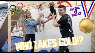OLYMPIAN BABIES COMPETE!