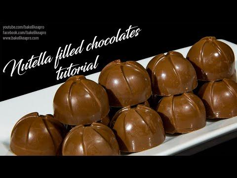 Easy Nutella Filled Milk Chocolates Tutorial