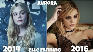 Maleficent Disney Movie Actors Before and After 2016, Antes y Después