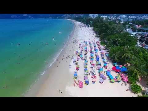 Phuket Patong beach  Thailand 2017 4k