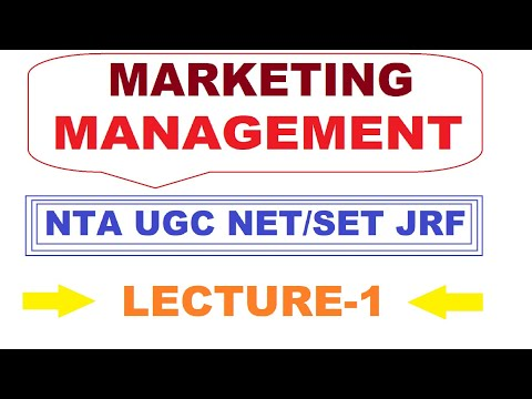 Marketing Management | Different Concepts Of Marketing | Lecture - 1 | By : Atiya Naaz