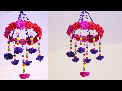 Paper wind chime craft - How to make wind chimes out of paper - Handmade wind chimes with paper