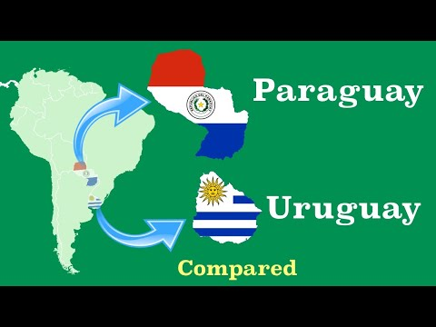 Paraguay and Uruguay Compared