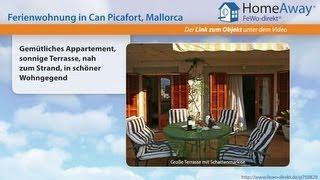 Can Picafort: Gemütliches Appartement, sonnige Terrasse, nah zum Strand, in - FeWo-direkt.de Video