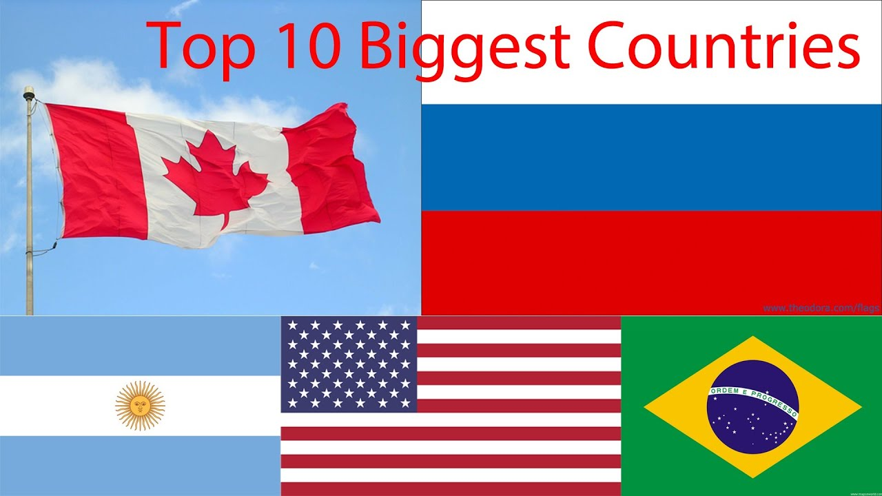 Top Biggest Countries In The World YouTube - What is the biggest country