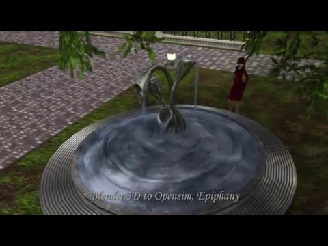 Fountain Art - Opensim Demo