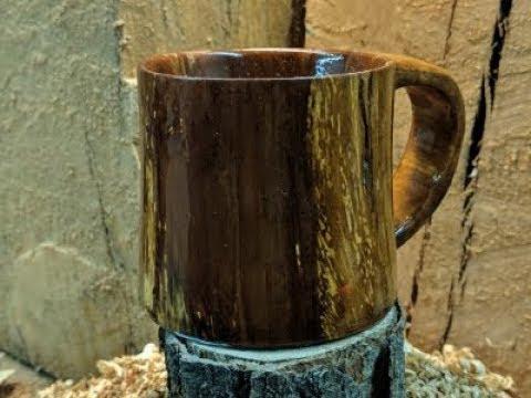 Woodpecker Wood Mug
