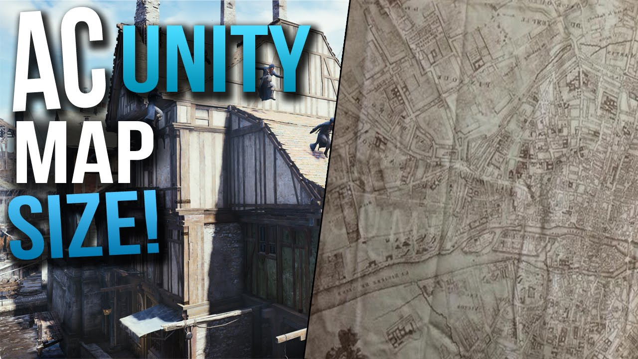Assassins Creed Unity Map Leaked Real Life Comparison 50x