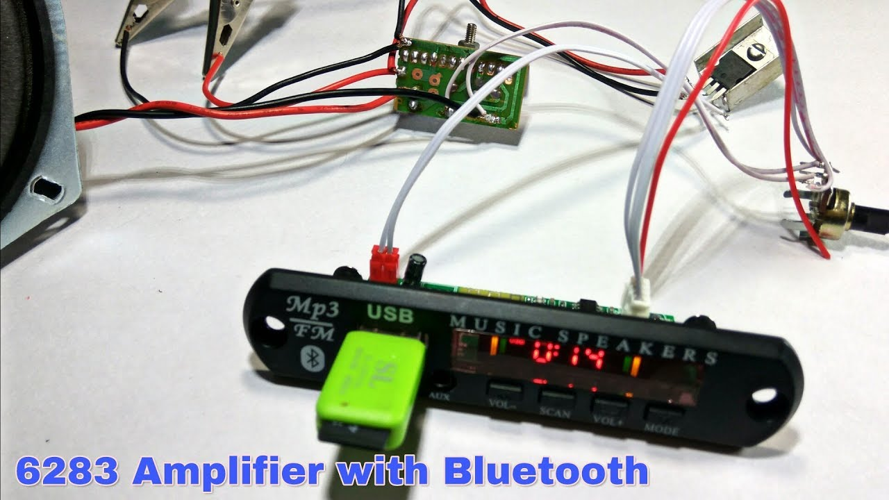 Amplifier Single Channel Using Ic 6283 With Usb Bluetooth Led Amplifiers Http Wwwinstructablescom Id Ledstrip