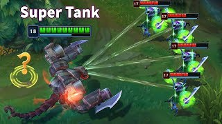 "SUPER TANK ""ONE FOR ALL"" (Cho'gath 6K HP, 1 Maokai vs 5 Morgana...) Video"