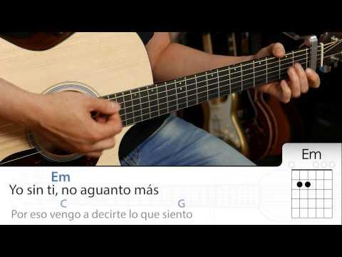 El Perdón Acordes y letra para guitarra como tocar tutorial DEMO