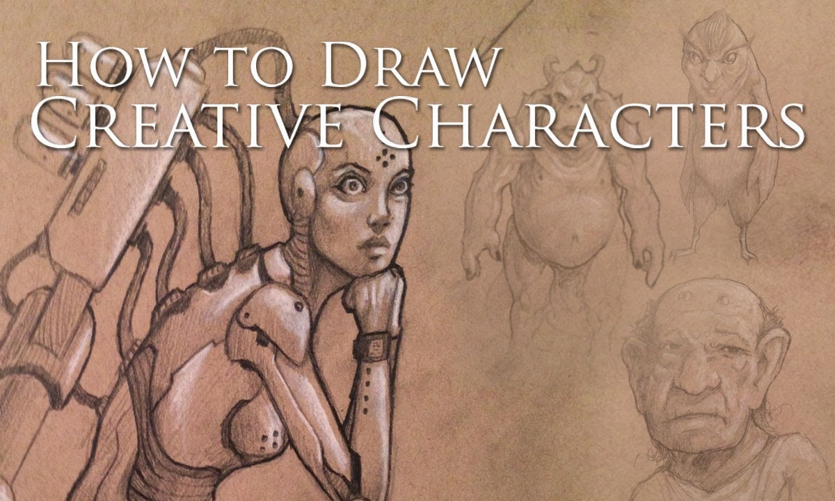 How i draw creative characters youtube for How to make creative drawings