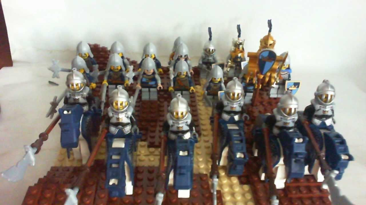 Lego Castle Crown Knights Army As Of July 28 2011 Youtube Skeleton Tower 7093