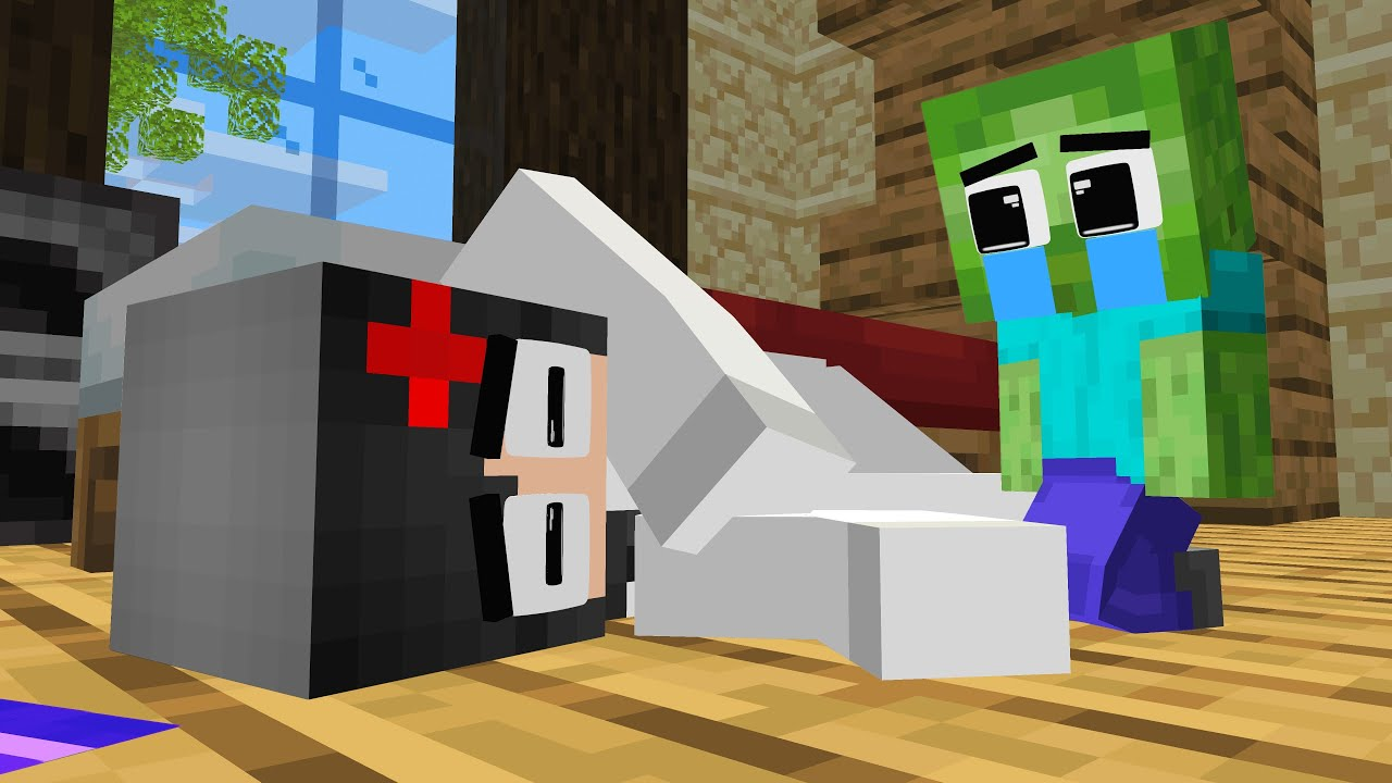 Monster School: Baby Zombie live with Bad RICH Family Herobrine - Sad Story - Minecraft Animation