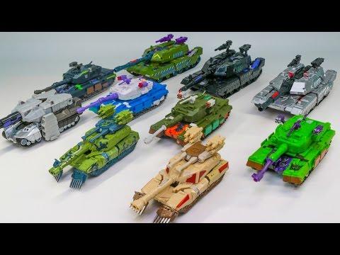Transformers Decepticons Tank Megatron Bludgeon Banzaitron Brawl 10 Tank Vehicle Robot Car Toys