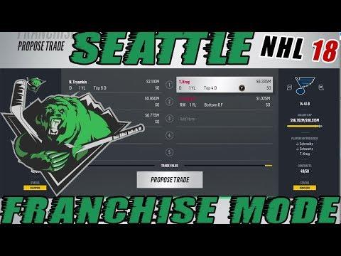 "NHL 18: Seattle Franchise Mode #29 ""Blue Line Trade"""