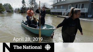 The National for April 28, 2019  —  Flooding Evacuations, Synagogue Shooting, Sandra Oh