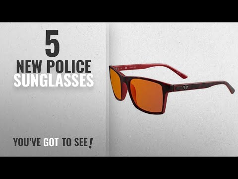 Top 10 Police Sunglasses [ Winter 2018 ]: Police Men's S1870M 556XRR Wayfarer Sunglasses, Red,Black