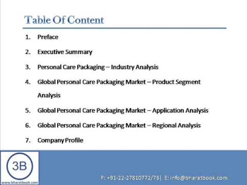 Personal Care Packaging  for Skin Care, Hair Care, Bath & Shower, Cosmetics and Other Applications