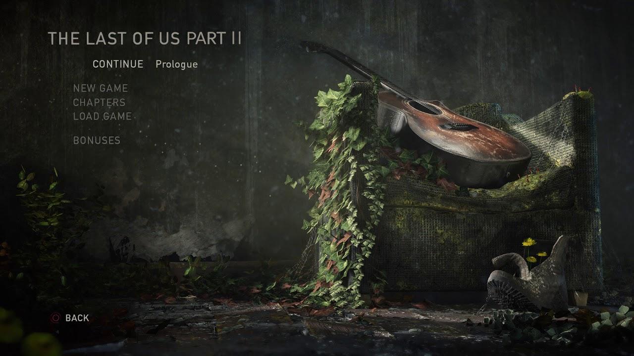 The Last Of Us Part 2 Wallpaper: The Last Of Us Part 2 Main Menu