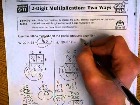 Everyday Math Home Link 9 11 - YouTube