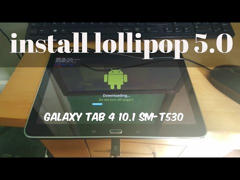 Samsung Galaxy Tab 4.10.1 SM-T530 How To Update To Lollipop 5.0 Tutorial