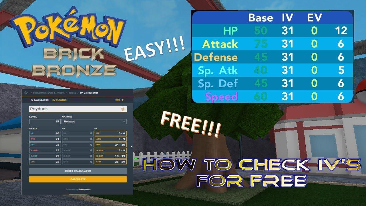 how to iv train pokemon brick bronze