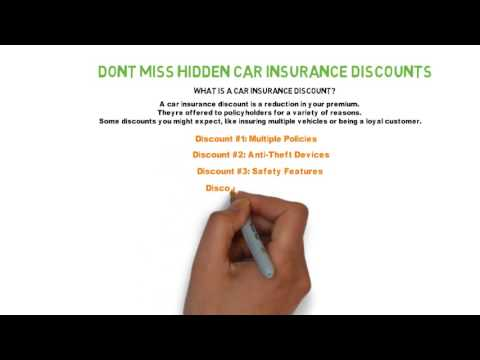 Don't Miss Hidden Car Insurance Discounts Tips