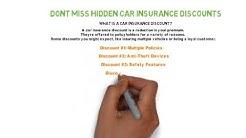 Don't Miss Hidden Car Insurance Discounts Tips