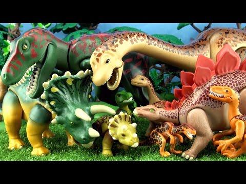 10 Playmobil Dinosaur Toys Mother and baby Dinosaurs collection - Tyrannosaurus Brachiosaurus