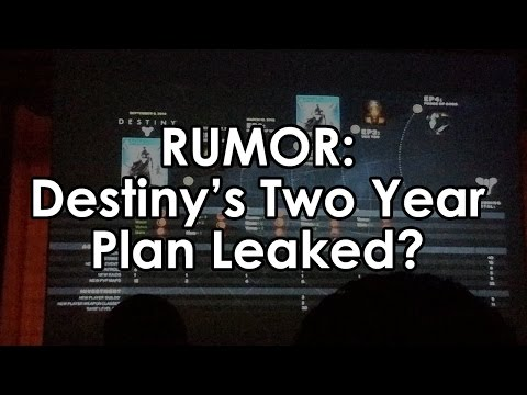 Destiny RUMOR: Destiny's Two Year Plan Leaked?  Comet Expansions?