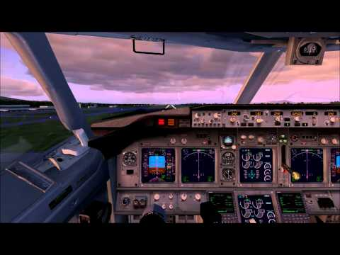 Malaysia Airlines landing at Penang (FSX)