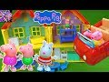 Peppa Pig Toys Peppa Pigs House Playset with Suzy Sheep George Pig Mummy Pig and the Red Car Toys!