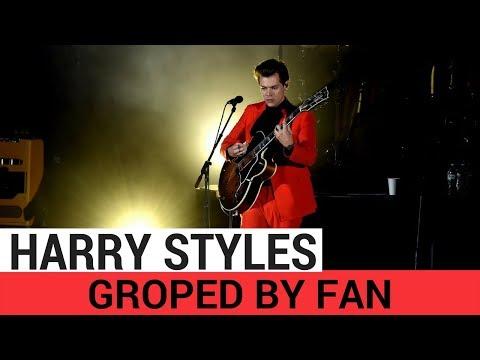 Harry Styles Groped By Fan On Stage