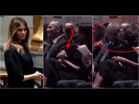 Michelle Flies Into Rage At Barack After Melania Makes Brave Move At Funeral