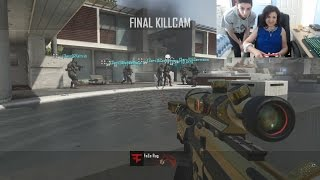 MY MOM HITS A TRICKSHOT!!