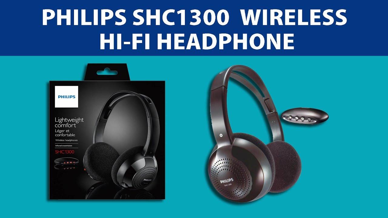 e66639c87b4 Philips SHC 1300 Wireless Hi-Fi Headphone - Unboxing & Review - YouTube