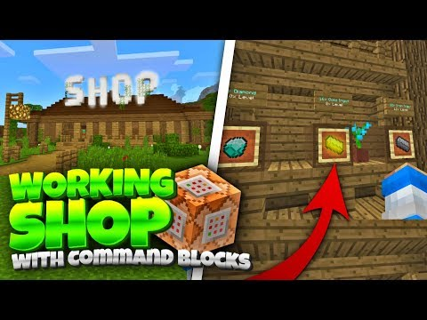 Working SHOP Using Command Blocks! Minecraft 1.2 Shop Tutorial (Pocket Edition, Win10, Consoles)