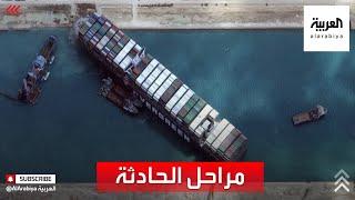 كيف علقت السفينة البنمية الضخمة في قناة السويس؟