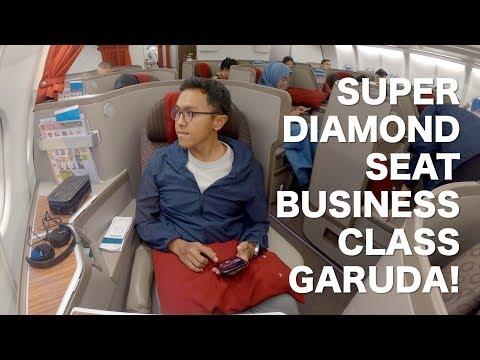 SUPER DIAMOND SEAT GARUDA BUSINESS CLASS A330-300 PALING BEST! Flight GA418 Jakarta to Bali