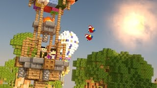 Minecraft | UN VIAJE EN GLOBO!! c/ Vegetta | Minijuego BUILD BATTLE