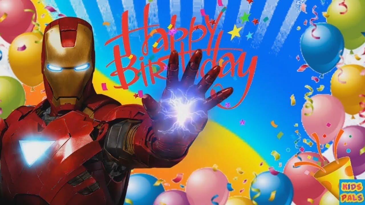 Картинка с днем рождения марвел