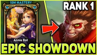 Download THE RANK 1 WUKONG LEGEND GOES HEAD TO HEAD WITH ANNIEBOT (ONE TRICK SHOWDOWN) - League of Legends Mp3 and Videos